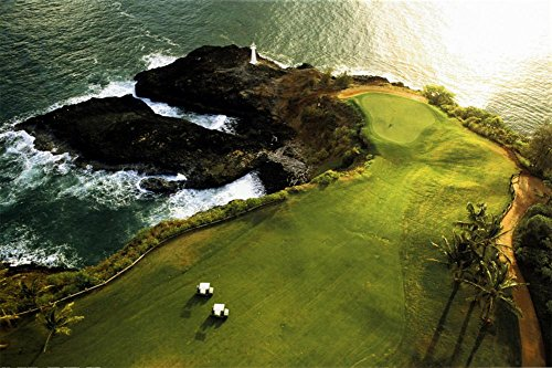 Golf Course, Hawaii Coast, 36x24 - Persistence Golf