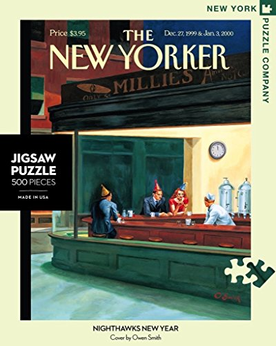 New York Puzzle Company - New Yorker Nighthawks - 500 Piece Jigsaw Puzzle from New York Puzzle Company