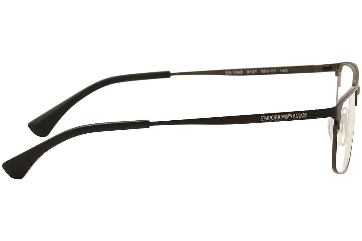 bcfa76a01c7 Armani EA1042 Eyeglass Frames 3127-55 - Matte Black black brown at Amazon Men s  Clothing store