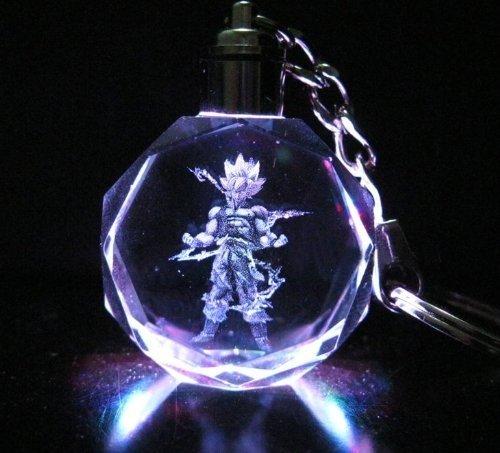 Keychain Goku - Brand New Super Saiyan Goku Dragon Ball Dragonball Z Crystal Led Key Chain