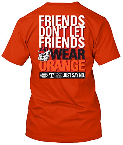 NCAA Friends Don't Let Friends Wear T Shirts - Up to 2X and 3X (Georgia Bulldogs, XXX-Large) ()