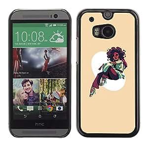 EJOY---Cubierta de la caja de protección la piel dura para el / HTC One M8 / --Afro Chica