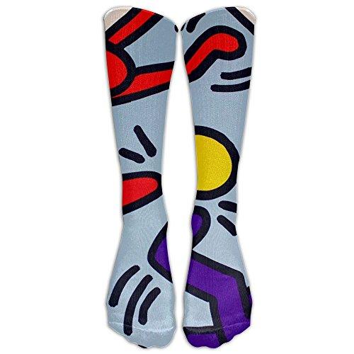 SADDFAWW Keith Haring Pop Artist Unisex Sock Knee Long High Socks Sport Athletic Crew Socks Football Sport Home Generic