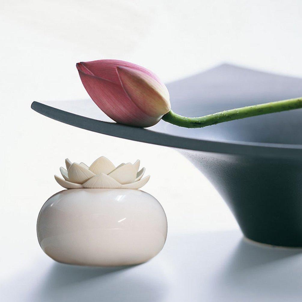 Yjy Ceramic Aromatherapy Essential Oil Diffuser Lotus Flower