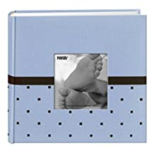 Pioneer Photo Albums Embroidered 200 Pocket Frame Fabric Cover Photo Album, Baby Blue