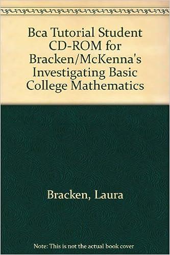 Bca tutorial student cd-rom for bracken/mckenna's investigating.