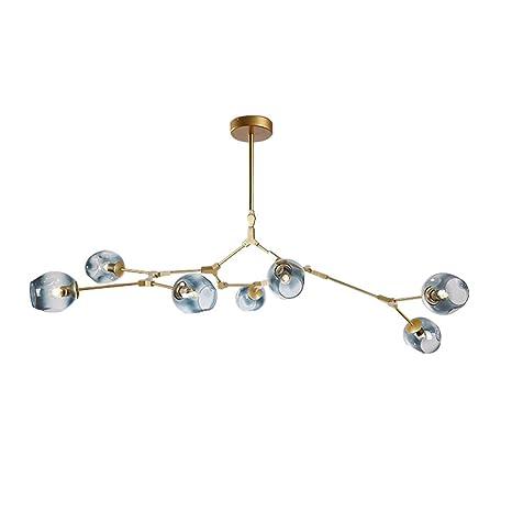 7 light chandelier adjustable gradient blue color glass bubble ball 7 light chandelier adjustable gradient blue color glass bubble ball lampshade rotating ceiling light aloadofball Images