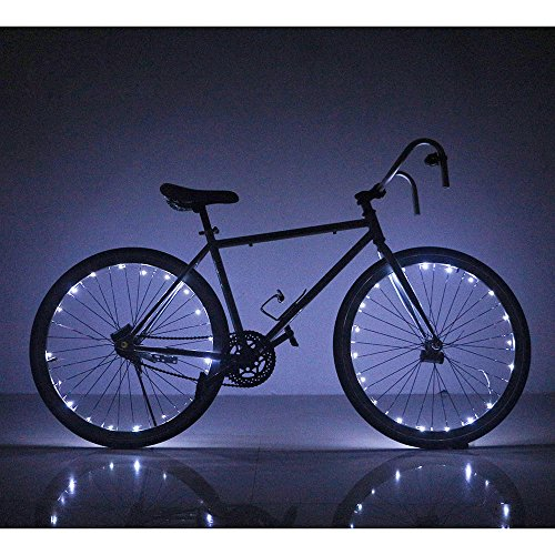 Soondar Super Bright 20-LED Bicycle Bike Rim Lights, White