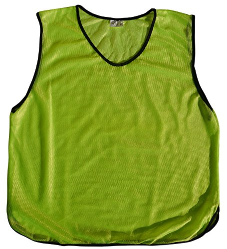 Polyester Training Bibs (6 Youth Practice Jerseys, Pinnies, Bibs 100% Polyester for Ages 5-9, 10-15, & 16+(Bright Yellow, Kids - 5-9))