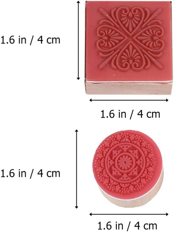 SUPVOX 12Pcs Wooden Stamps Floral Rubber Stamps Great for Scrapbook Gift Tag Envelope Handmade Cards Polymer Clay