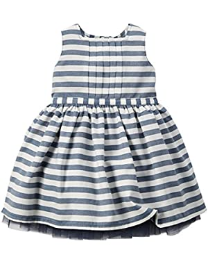 Striped Dress, Navy
