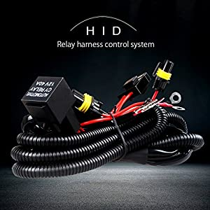 JIHE Auto 9006/H11 HID Conversion Kit Relay Wiring Harness with 12V 40A Relay 30A Fuse and 18AWG support 35W xenon ballast/HID Xenon Relay Harness Solves Issues with Poor Electrical Systems