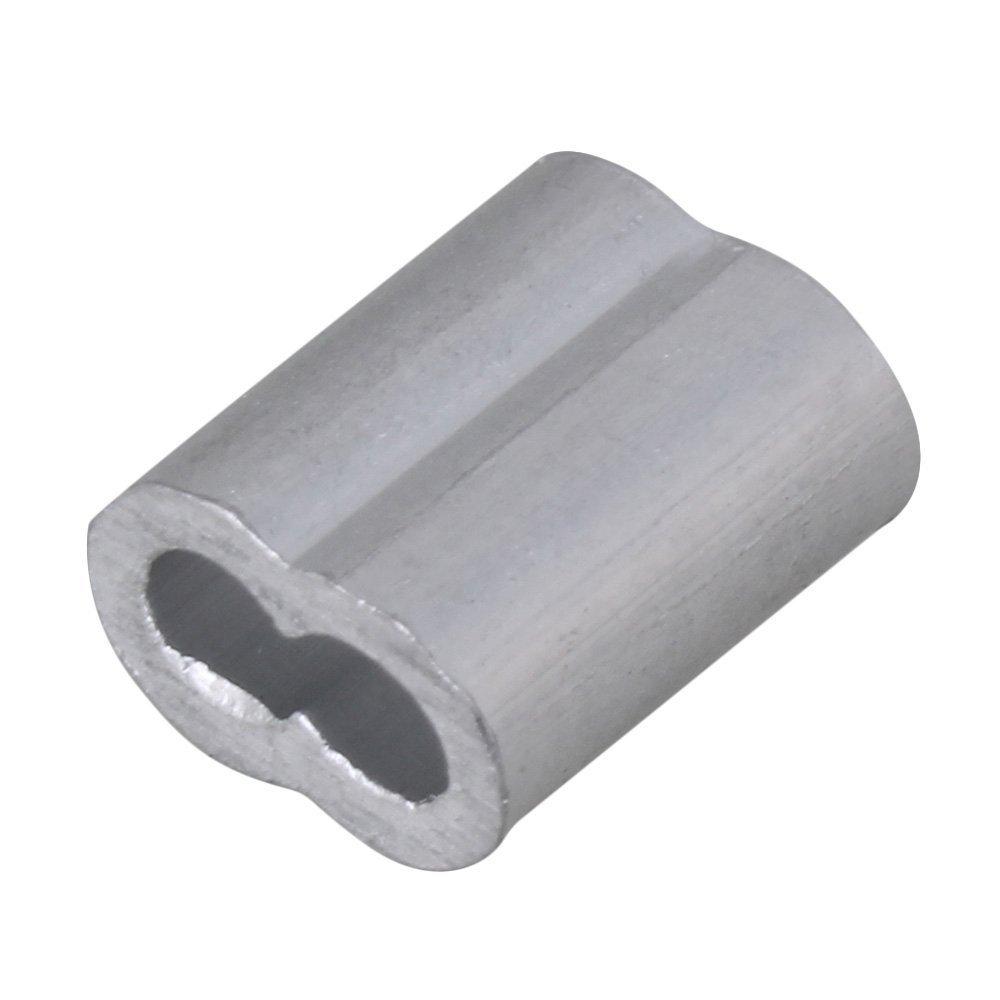 glvanc, 300 Stück 2 mm doppelt Metallkappen Aluminium Crimpen ...