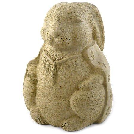 (Modern Artisans Meditating Rabbit - Cast Stone Garden Sculpture, Large Size, American Made)