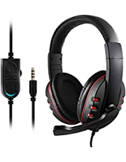 Etpark Gaming Headset for PS4 Xbox One 3.5mm Wired Over-head Stereo Gaming Headset Headphone with Mic Microphone, Volume Control for SONY PS4 PC Tablet Laptop Smartphone Xbox One S