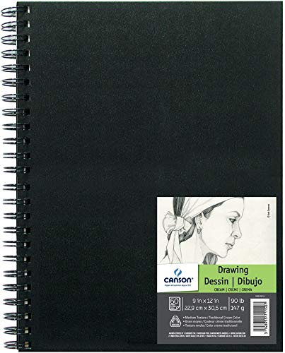 - Canson Artist Series Field Drawing Book for Pencil, Pen and Felt Tip Pens, Side Wire Bound, 90 Pound, 9 x 12 Inch, 60 Sheets