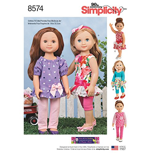 Doll Pattern Dress - Simplicity Sewing Pattern 8574 Wellie Wishers 14