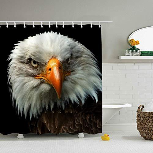 nicell11 Bald Eagle Decor Shower Curtain, Bathroom Accessories 72 x 72 (Anpassen Oder Anpassen)