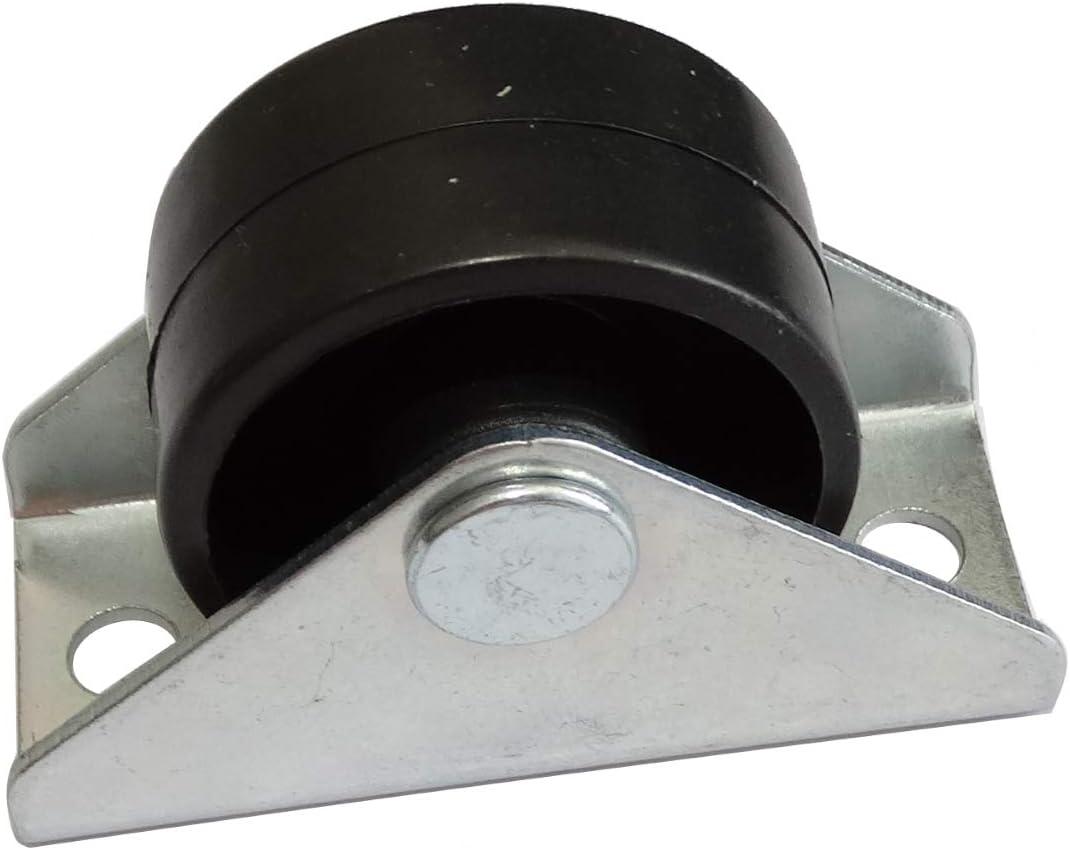 10 pi/èces Roue roulette pour meuble platine fix/é /Ø30mm W15.5mm H32.5mm 25kg plaque de montage 21x48mm C42666 AERZETIX
