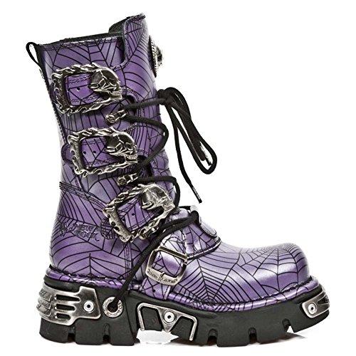 New Rock Metallic T�rkis Stiefel M.391-S12 Purple