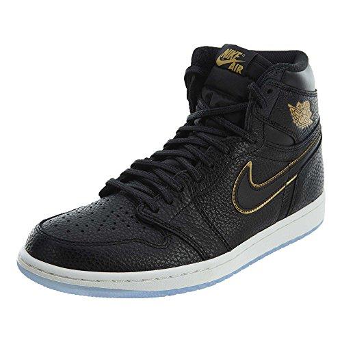 Nike Air Jordan 1 Retro High OG Men's Basketball Shoes 555088 031 Black Metallic Gold - Og Jordan 1 Retro High