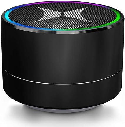 Xtreme Mini Round Helix Light-Up Bluetooth Speaker (Black)
