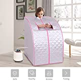 MD Group Portable Steam Sauna Tent Household 2L Silver Full Body Detox Massage Weight Loss with Chair