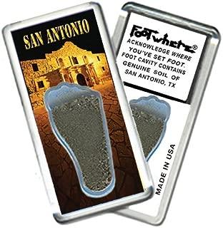"product image for San Antonio ""FootWhere"" Souvenir Fridge Magnet. Made in USA (SA204 - PM Alamo)"