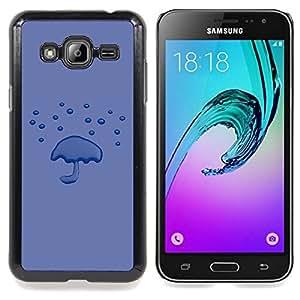 Purple Rain Minimalist Emo Caja protectora de pl??stico duro Dise?¡Àado King Case For Samsung Galaxy J3
