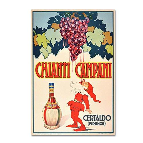 Trademark Fine Art Chianti by Vintage Apple Collection, 30x47-Inch Canvas Wall (Chianti Bottle)