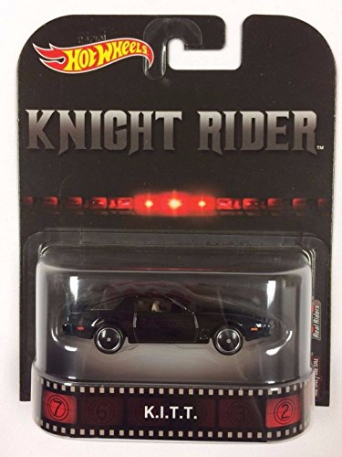 Knight Rider K.I.T.T. Vehicle Hot Wheels Retro Entertainment Series Real Riders collectible die cast metal cars, 1/64 scale