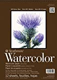 """Strathmore 440-1 400 Series Watercolor Pad, 9""""x12"""" Wire Bound, 12 Sheets"""