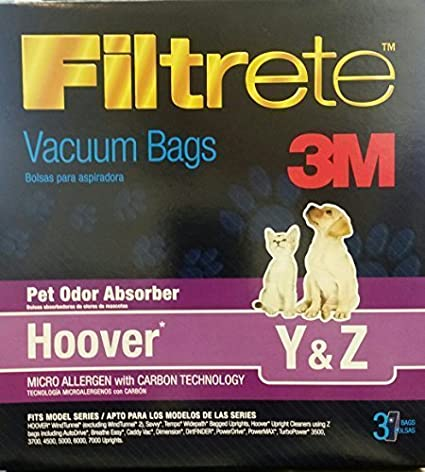 3M Hoover Pet Odor Absorber Vacuum Bags *Special 6 boxes=18 BAGS*