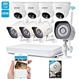 Kyпить Zmodo 1080p HD Digital NVR System 8 Channel Wireless 1.0 Megapixel 4 Outdoor Camera 4 Indoor Camera 500GB Hard Drive Pre-installed Night Vision Motion Detection DIY Kit на Amazon.com
