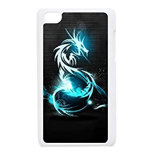 Durable Material Phone Case With Dragon Image On The Back For iPod Touch 4