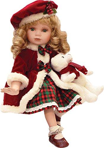 Porcelain Christmas Doll - 9