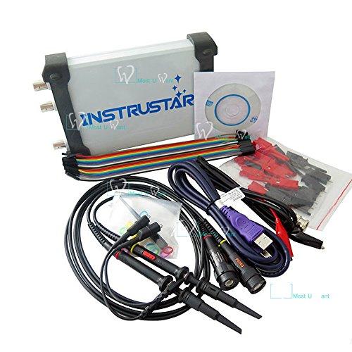 Test Equipment PC Based 5in1 USB Digital Oscilloscope 2CH 20MHz 48MS/s Spectrum Analyzer Data Recorder 16 Channel Logic Analyzer DDS