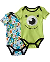 Disney Monsters Inc Mike Wizowski 2 Piece Baby Boys Bodysuit Creeper Set