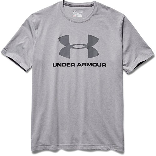 888376049904 - Under Armour Men's Sportstyle Logo T-Shirt, True Gray Heather/Black, XX-Large carousel main 3