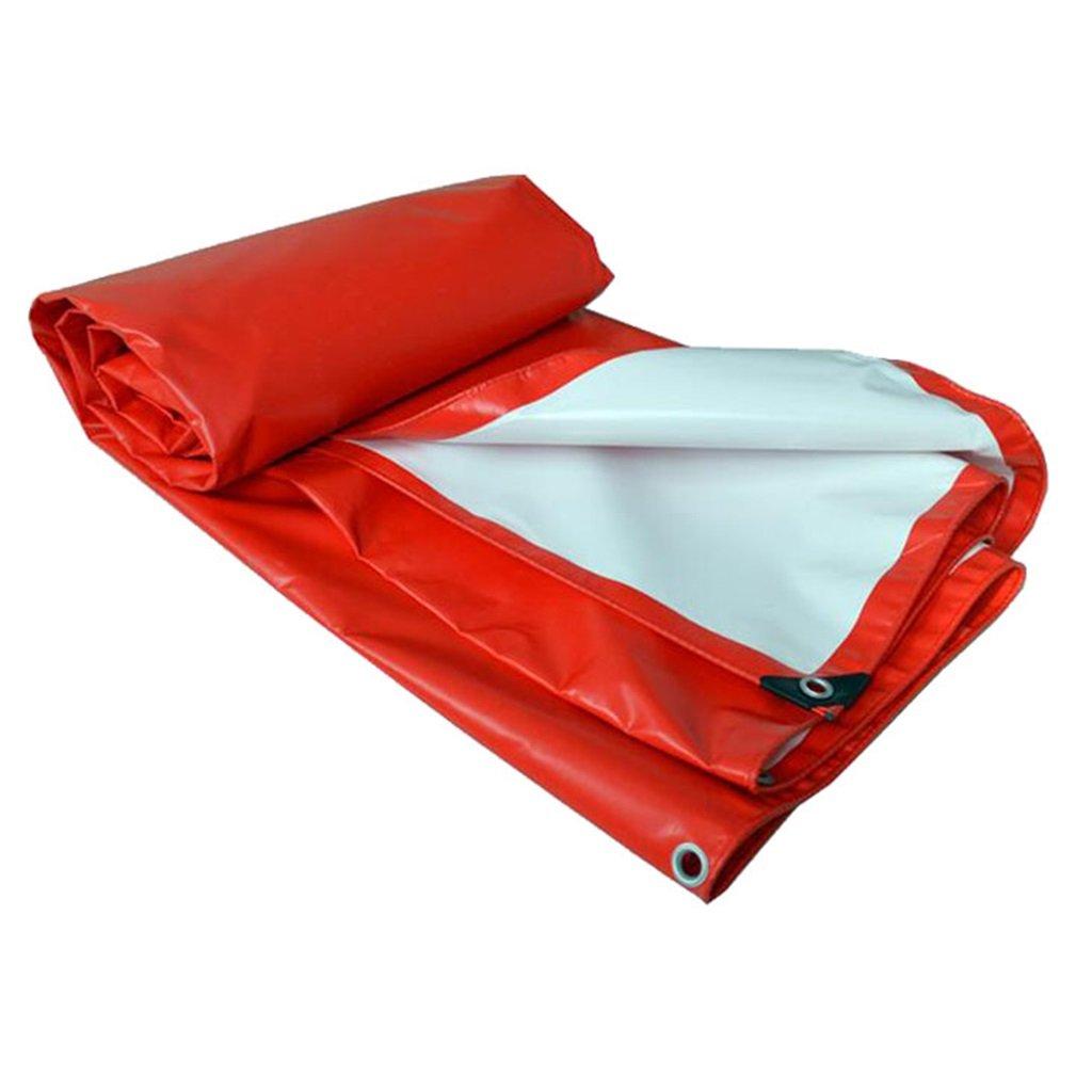 Plane Persenning rot Outdoor Shade Heavy Duty Plane Multifunktions Tarp Bodenplane Abdeckungen für Camping, Angeln, Gartenarbeit, Multi-Größe-Optionen Abdeckplanen (größe   5MX6M)