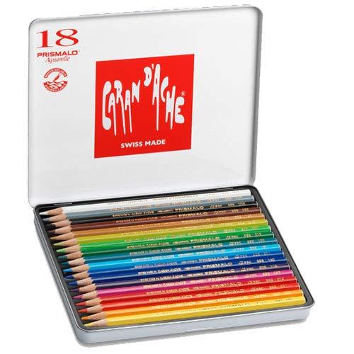 Lápis Aquarelável Caran D'Ache Prismalo 18 Cores, Caran D'Ache, 999318, 18 Cores