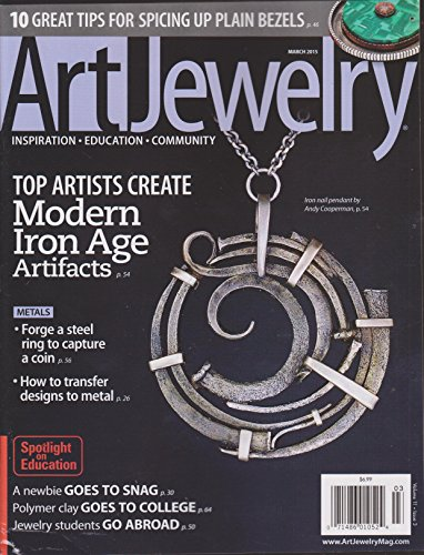 Art Jewelry Magazine March - Jewelry Journal Artist Lapidary Magazine