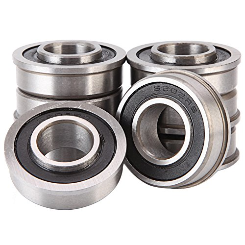 5/8' Bearing (Pack - 8), ID 5/8' x OD 1-3/8' - Lawn Mower and Wheelbarrows & Carts Wheel Bearing - Marathon# 60602 Flanged Precision Ball Bearing.