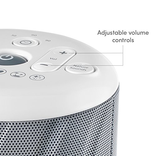 MyBaby, Deep SoundSpa White Noise Machine 6 Mask, Twinkle, Twinkle | Adapter 4 Batteries Compact & Portable