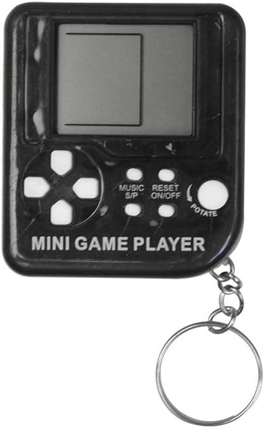 MAICOLA Tetris cl/ásico Juego de Consola port/átil LCD Llavero Jugadores del Juego antiestr/és Juguetes electr/ónicos Llavero Retro Mini m/áquina de Juego