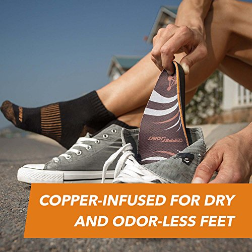 CopperJoint - Copper-Infused Orthotic Insoles, Moisture Wicking Shoe Inserts Offer Firm Arch Support to Help Relieve Foot Soreness, Pair (Large) by CopperJoint (Image #6)
