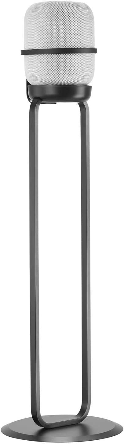Mount Plus MP-SB60F Fixed Height Speaker Floor Stand - with Silicone Pad - Compatible with Apple HomePod - Black