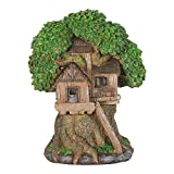 Mini Dollhouse FAIRY GARDEN Accessories - Solar Tree House With Ladder - My Garden Miniatures