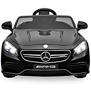 Best Choice Products 12V Ride On Mercedes S63 Coupe Car w/ Parent Remote, 3 Speeds, MP3 player, LED Lights - Black