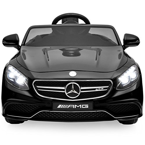 Mercedes Rc Car (Best Choice Products Ride On Car Kids W/ MP3 Electric Battery Power Parent Remote Control RC Mercedes S63 (Black))